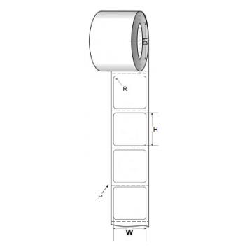 """Art paper Label 101.6mm X 101.6mm (4"""" X 4"""")"""